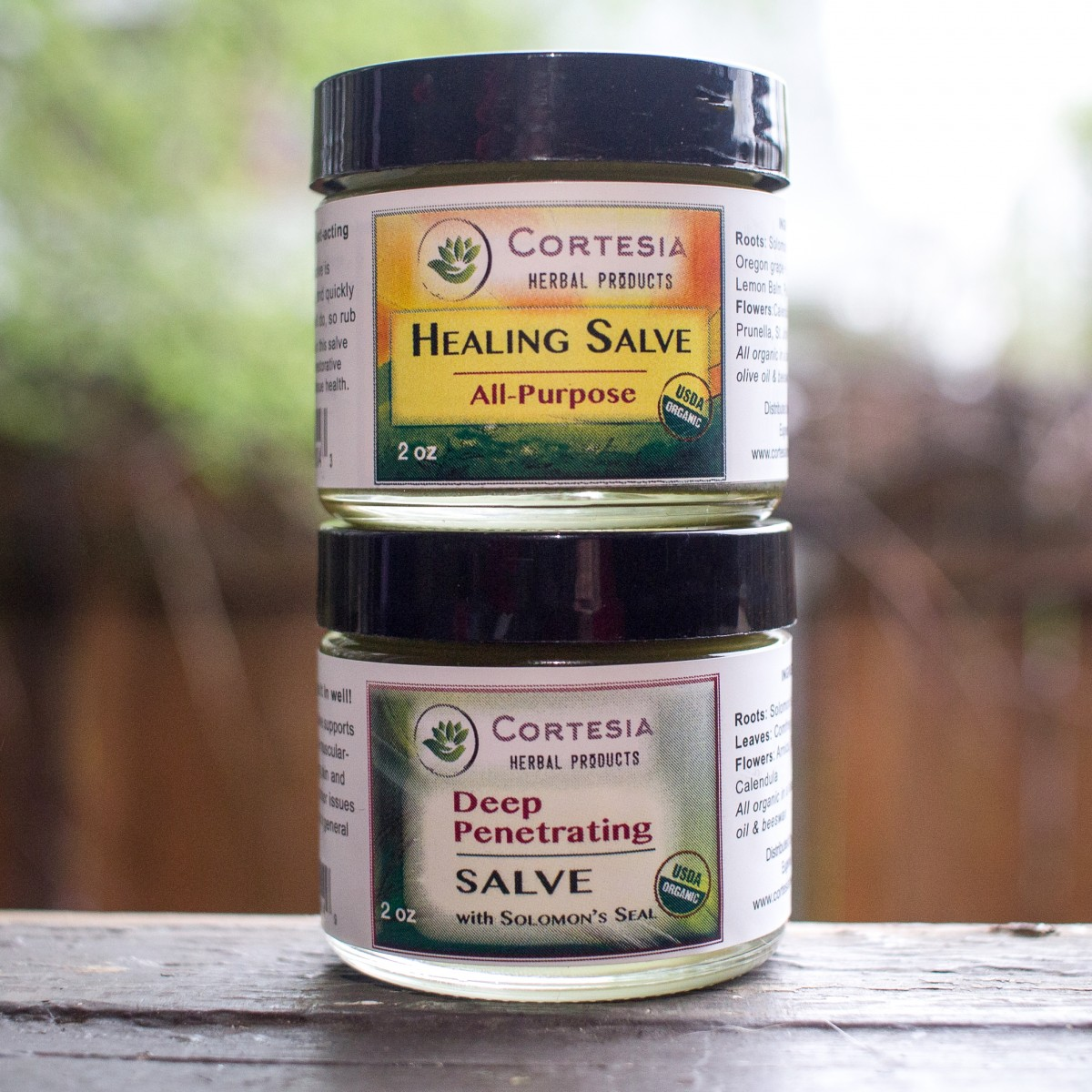 organic salve variety 2 pack cortesia herbal products