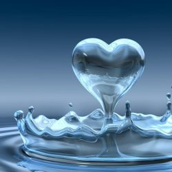 water drop heart